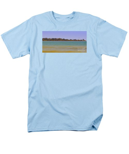 Men's T-Shirt  (Regular Fit) featuring the photograph Racine Lakefront by Ricky L Jones