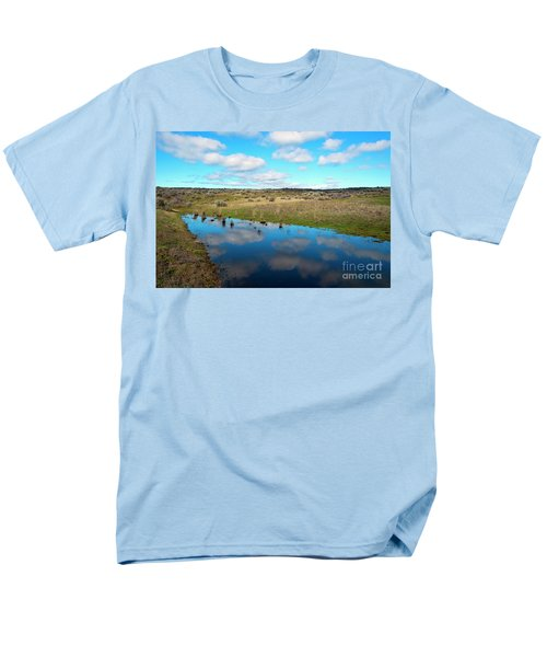 Men's T-Shirt  (Regular Fit) featuring the photograph Reflections Of Spring by Mike Dawson