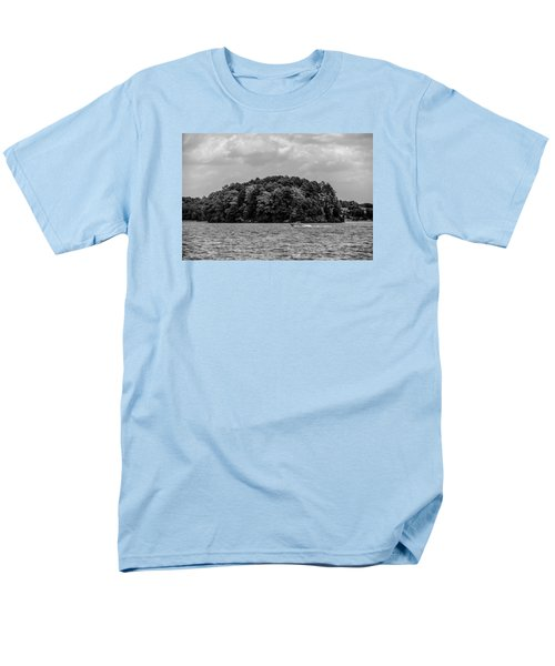 Relaxing On Lake Keowee In South Carolina Men's T-Shirt  (Regular Fit) by Alex Grichenko