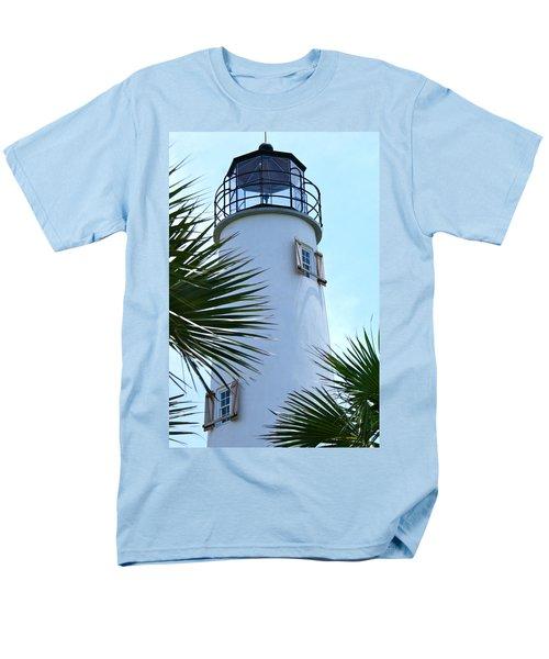 St. George Island Lighthouse Men's T-Shirt  (Regular Fit)