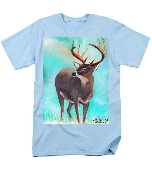 Men's T-Shirt  (Regular Fit) featuring the painting the Buck Stops Here by Sherril Porter