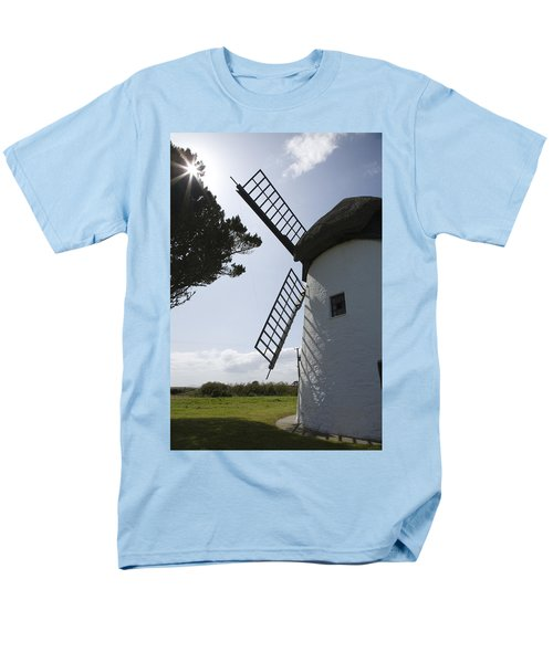 Men's T-Shirt  (Regular Fit) featuring the photograph The Old Irish Windmill by Ian Middleton
