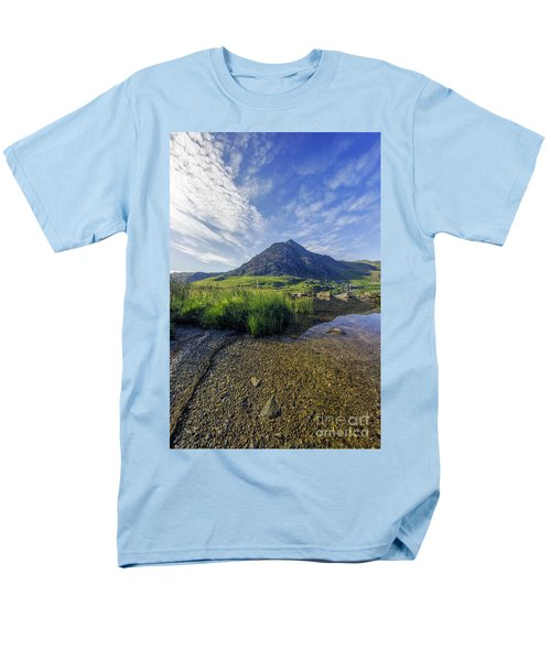 Tryfan Mountain Men's T-Shirt  (Regular Fit) by Ian Mitchell