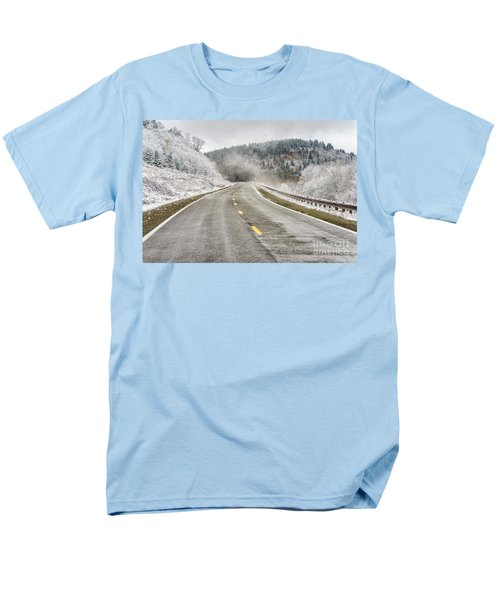 Men's T-Shirt  (Regular Fit) featuring the photograph Unexpected Autumn Snow Highland Scenic Highway by Thomas R Fletcher