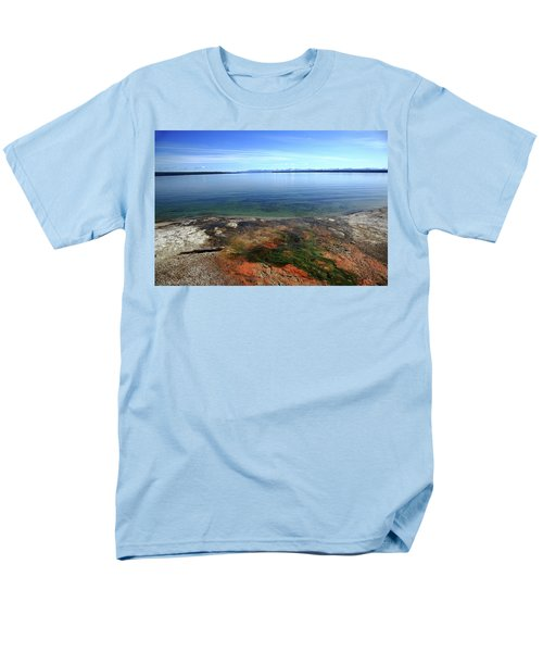 Men's T-Shirt  (Regular Fit) featuring the photograph Yellowstone Lake Colors by Frank Romeo