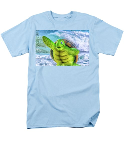 10731 Myrtle The Turtle Men's T-Shirt  (Regular Fit) by Pamela Williams