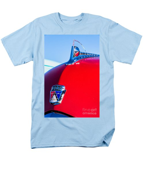 Men's T-Shirt  (Regular Fit) featuring the photograph 1950 Ford Hood Ornament by Aloha Art