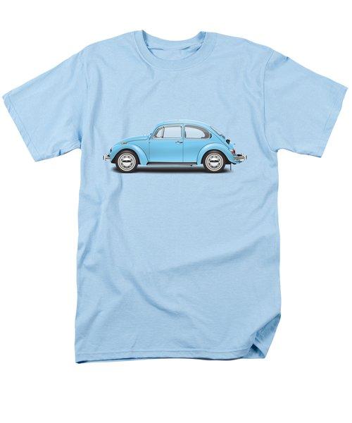 1972 Volkswagen Super Beetle - Marina Blue Men's T-Shirt  (Regular Fit) by Ed Jackson