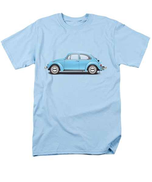 1972 Volkswagen Super Beetle - Marina Blue Men's T-Shirt  (Regular Fit)