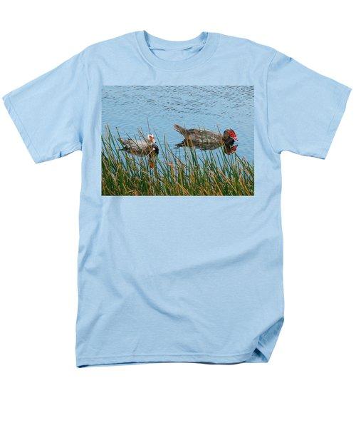 Men's T-Shirt  (Regular Fit) featuring the photograph 2- Ducks by Joseph Keane