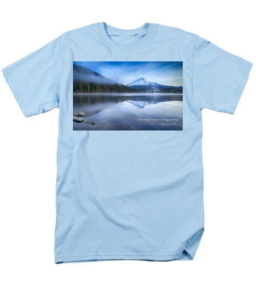 His Mercies Men's T-Shirt  (Regular Fit) by Lynn Hopwood