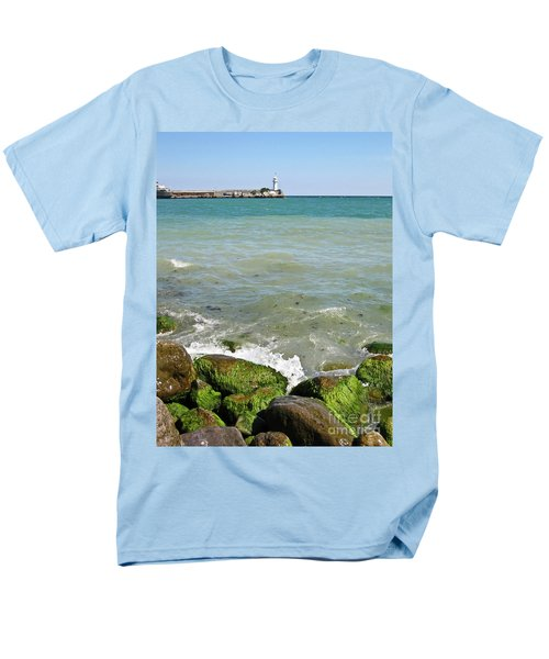 Lighthouse In Sea Men's T-Shirt  (Regular Fit) by Irina Afonskaya