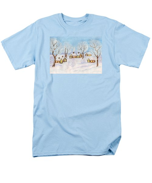 Winter Landscape, Painting Men's T-Shirt  (Regular Fit) by Irina Afonskaya
