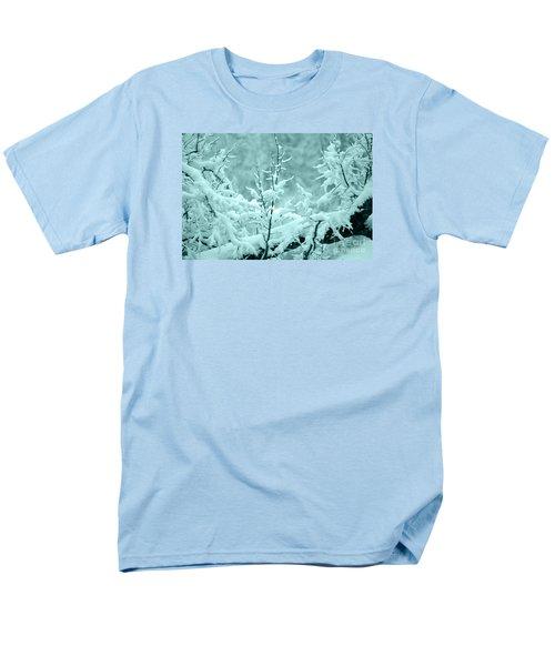 Men's T-Shirt  (Regular Fit) featuring the photograph Winter Wonderland In Switzerland by Susanne Van Hulst