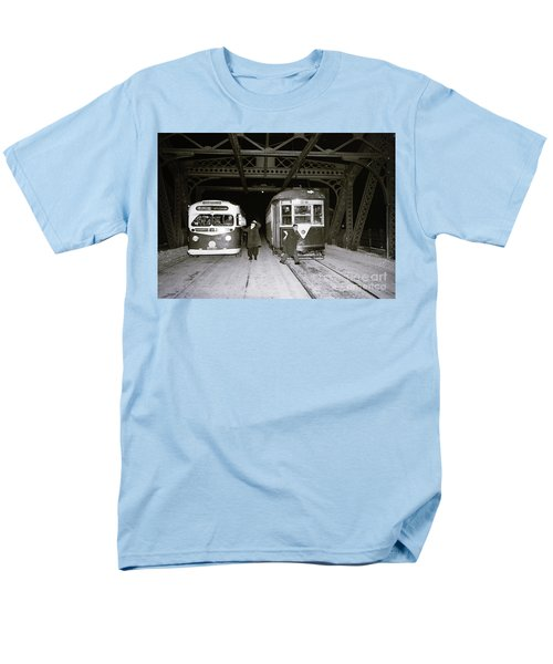Men's T-Shirt  (Regular Fit) featuring the photograph 207th Street Crosstown Trolley by Cole Thompson