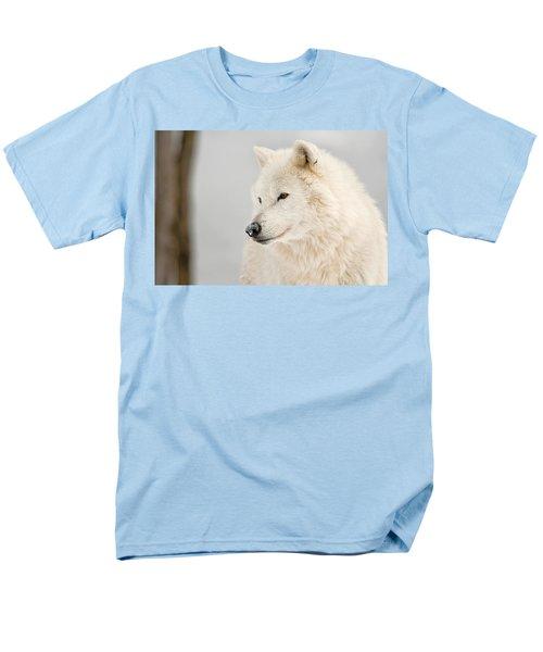 Arctic Wolf Portrait Men's T-Shirt  (Regular Fit) by Michael Cummings