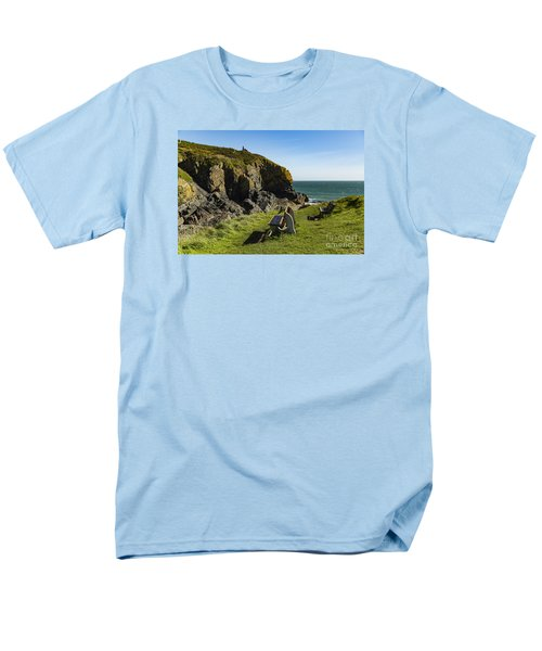 Men's T-Shirt  (Regular Fit) featuring the photograph Cadgwith Cove by Brian Roscorla