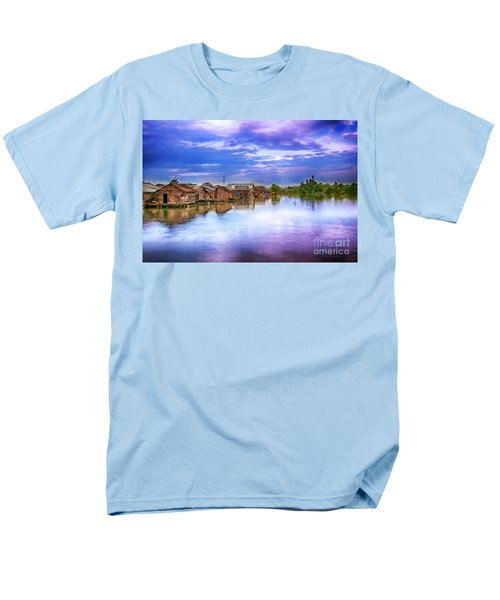 Men's T-Shirt  (Regular Fit) featuring the photograph Village by Charuhas Images