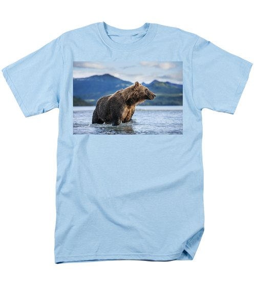 Coastal Brown Bear  Ursus Arctos Men's T-Shirt  (Regular Fit) by Paul Souders