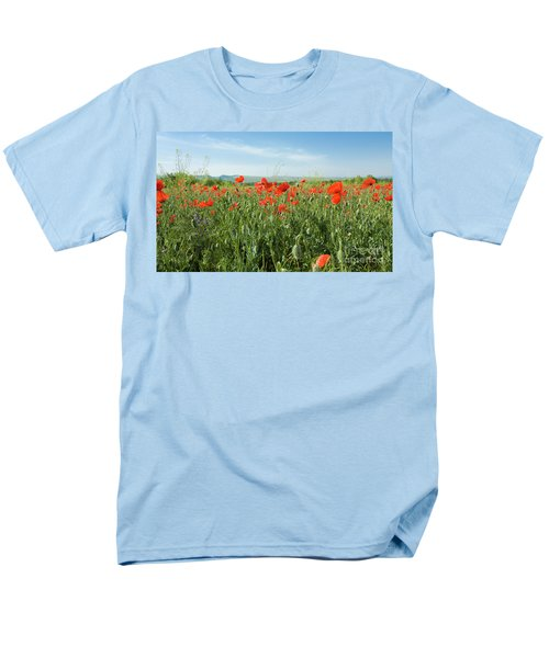 Meadow With Red Poppies Men's T-Shirt  (Regular Fit) by Irina Afonskaya
