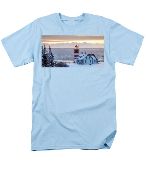 Men's T-Shirt  (Regular Fit) featuring the photograph West Quoddy Lighthouse by Trace Kittrell