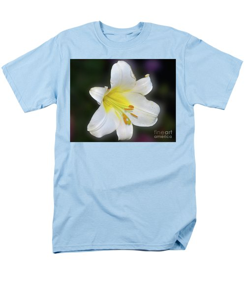 Men's T-Shirt  (Regular Fit) featuring the photograph White Lily by Elvira Ladocki
