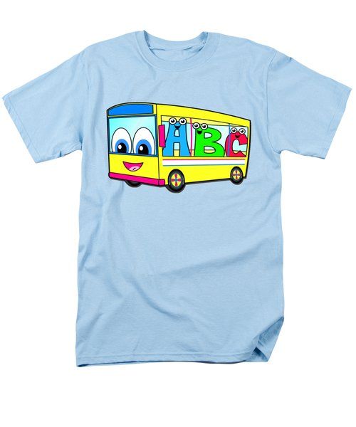 A B C Bus T-shirt Men's T-Shirt  (Regular Fit) by Herb Strobino