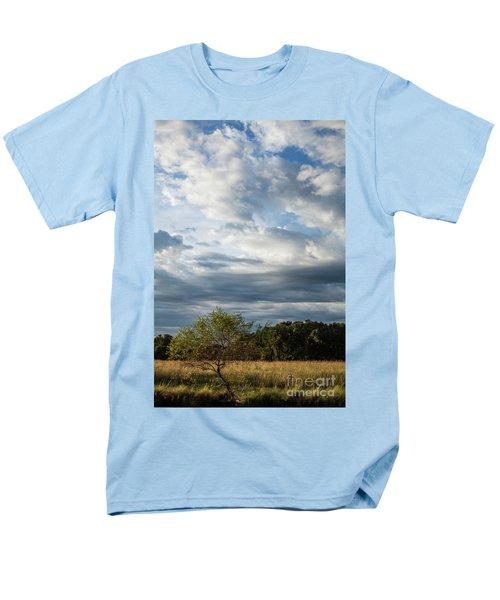 Men's T-Shirt  (Regular Fit) featuring the photograph A Day In The Prairie by Iris Greenwell