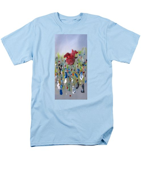 Men's T-Shirt  (Regular Fit) featuring the painting A Face In The Crowd by Mary Kay Holladay