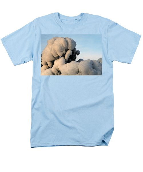 A Lick Of Snow On The Bush Men's T-Shirt  (Regular Fit) by Paul SEQUENCE Ferguson             sequence dot net