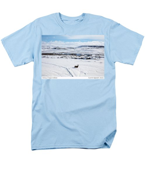 Men's T-Shirt  (Regular Fit) featuring the photograph A Lone Buck Deer In Carbon County, Wyoming by Carol M Highsmith