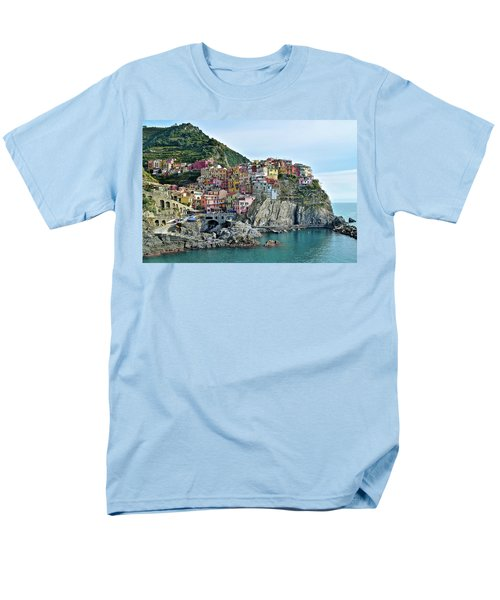 Men's T-Shirt  (Regular Fit) featuring the photograph A Manarola Morning by Frozen in Time Fine Art Photography