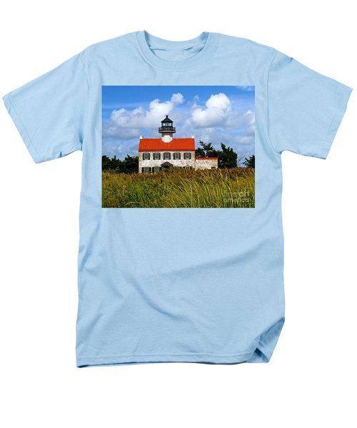 Men's T-Shirt  (Regular Fit) featuring the photograph A New Day At East Point Light by Nancy Patterson