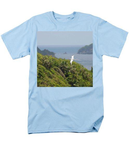 A Red-billed Tropicbird (phaethon Men's T-Shirt  (Regular Fit) by John Edwards