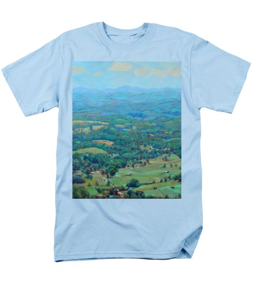 A Slow Summer's Day- View From Roanoke Mountain Men's T-Shirt  (Regular Fit) by Bonnie Mason