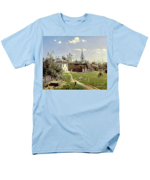 A Small Yard In Moscow Men's T-Shirt  (Regular Fit) by Vasilij Dmitrievich Polenov