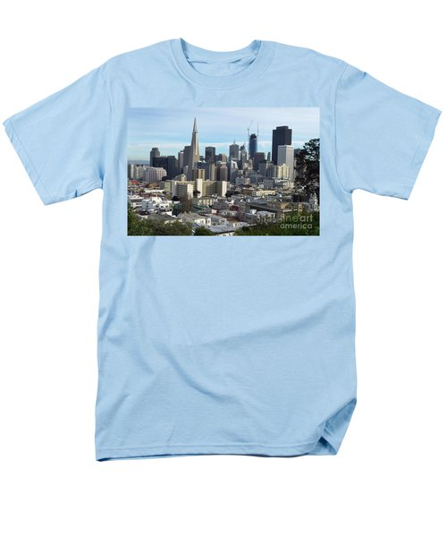 Men's T-Shirt  (Regular Fit) featuring the photograph A View Of Downtown From Nob Hill by Steven Spak