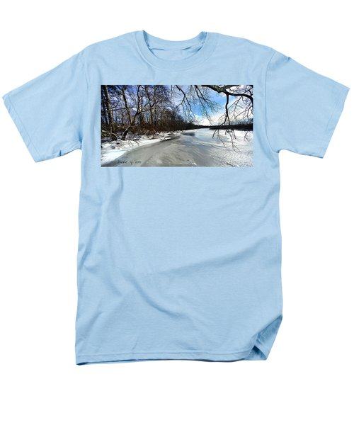 A Winters Day Men's T-Shirt  (Regular Fit) by Diane Giurco