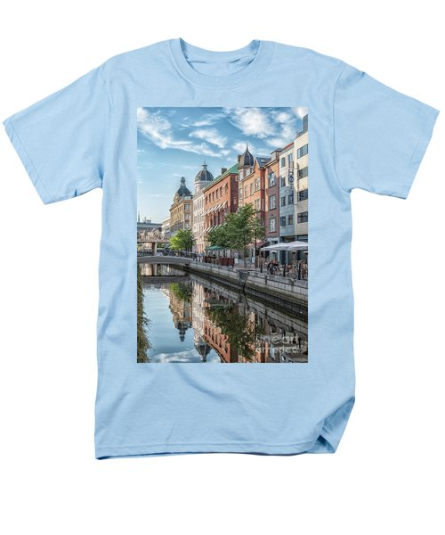 Men's T-Shirt  (Regular Fit) featuring the photograph Aarhus Afternoon Canal Scene by Antony McAulay