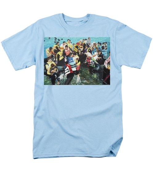 Men's T-Shirt  (Regular Fit) featuring the painting Abandoned Souls by Eric Kempson