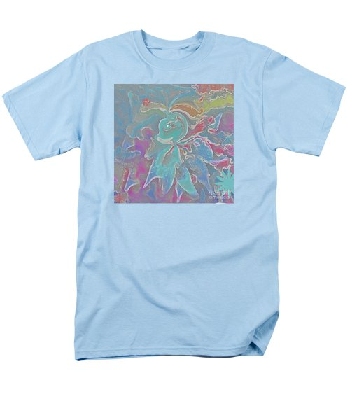 Men's T-Shirt  (Regular Fit) featuring the painting Abstract Art Fun Flower By Sherriofpalmspring by Sherri  Of Palm Springs