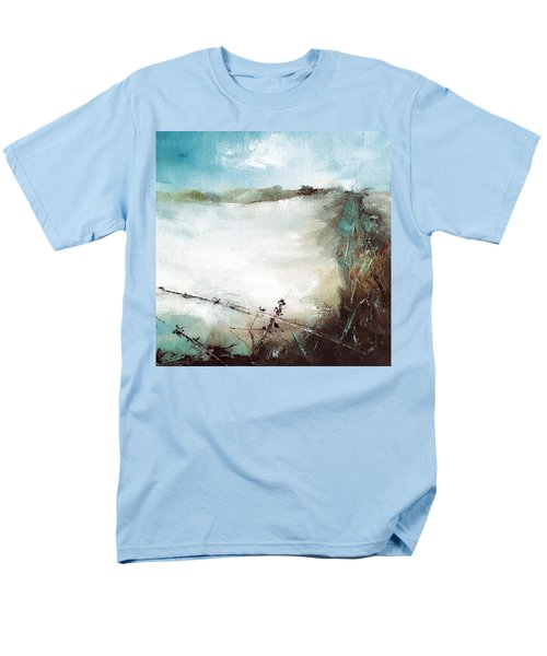 Abstract Barbwire Pasture Landscape Men's T-Shirt  (Regular Fit) by Michele Carter