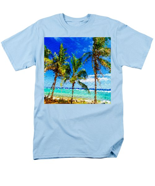 Abstract Beach Palmettos Men's T-Shirt  (Regular Fit) by Anthony Fishburne
