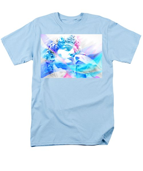 Men's T-Shirt  (Regular Fit) featuring the painting Abstract David Michelangelo 3 by J- J- Espinoza