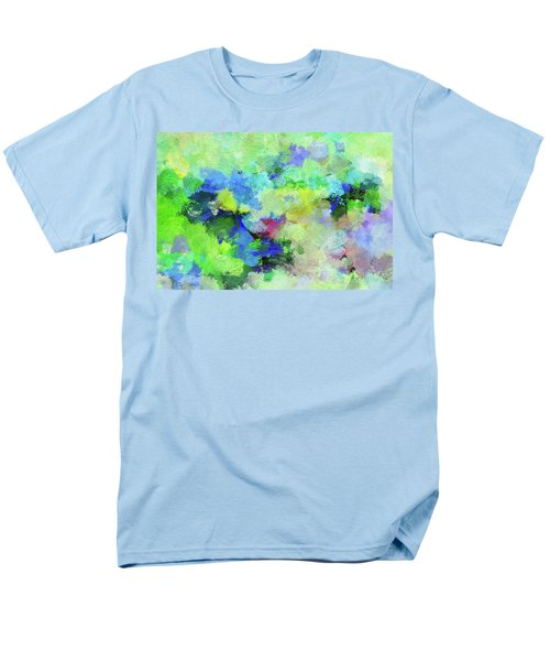 Men's T-Shirt  (Regular Fit) featuring the painting Abstract Landscape Painting by Ayse Deniz