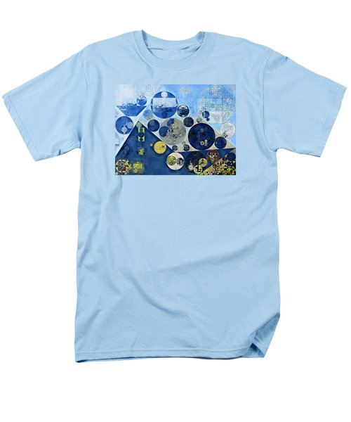 Abstract Painting - Kashmir Blue Men's T-Shirt  (Regular Fit) by Vitaliy Gladkiy
