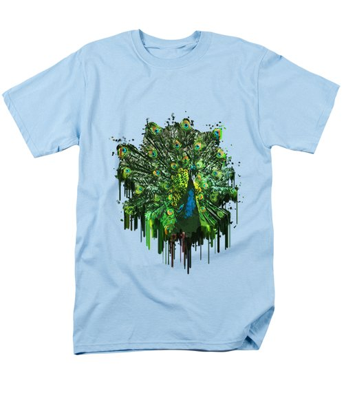 Abstract Peacock Acrylic Digital Painting Men's T-Shirt  (Regular Fit) by Georgeta Blanaru