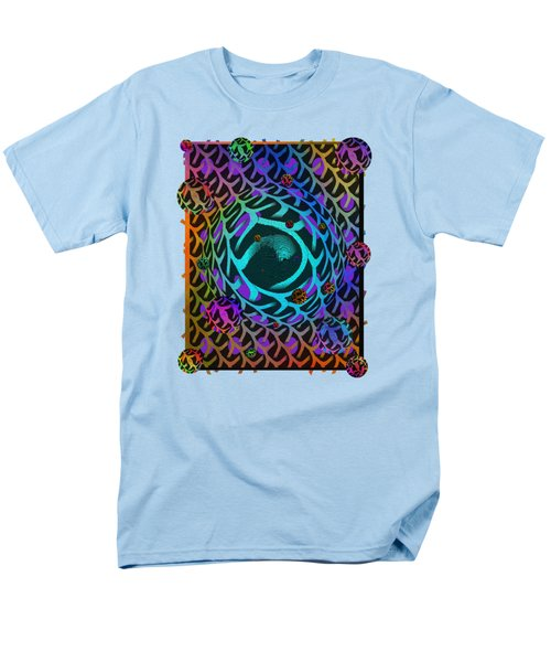 Men's T-Shirt  (Regular Fit) featuring the digital art Abstract - The Fabric Of Life by Glenn McCarthy Art and Photography
