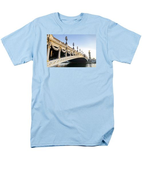 Alexandre IIi Bridge In Paris France Early Morning Men's T-Shirt  (Regular Fit) by Perry Van Munster