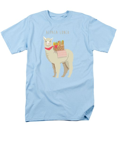 Alpaca Lunch Men's T-Shirt  (Regular Fit) by Little Bunny Sunshine